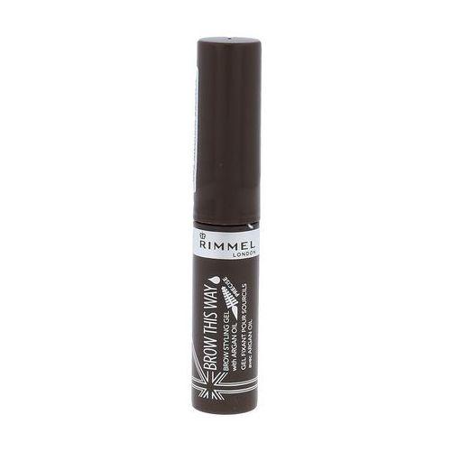 Rimmel london brow this way brow styling gel tusz do brwi 5 ml dla kobiet 002 medium brown - Promocyjna cena