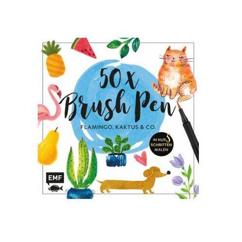 50 x Brush Pen - Flamingo, Kaktus und Co. Kaltenecker, Verena