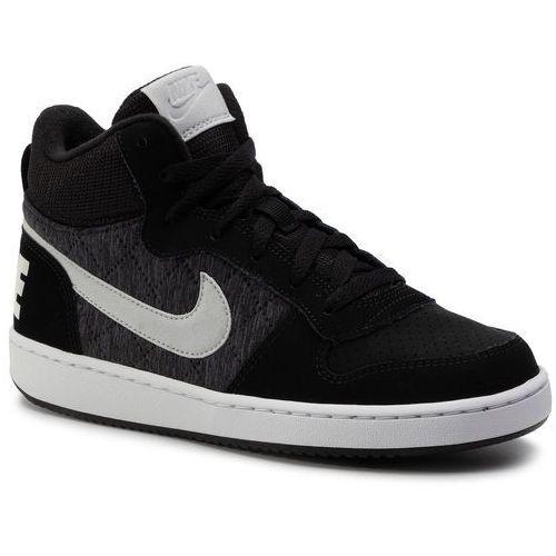 Nike Buty - court borough mid se (gs) 918340 007 black/piure platinum/cool grey