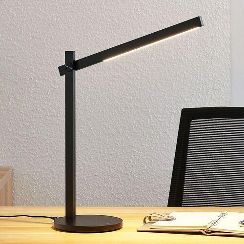 Lampa biurkowa LED Loretta, prostoliniowa, czarna