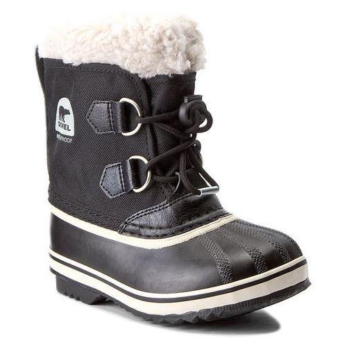 Śniegowce - childrens yoot pac nylon nc1879 black 010 marki Sorel