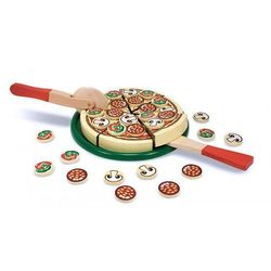 Drewniana pizza do krojenia i układania, marki Melissa & doug