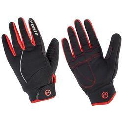 Rękawiczki ocieplane snowflake czarno-czerwone xxl marki Accent