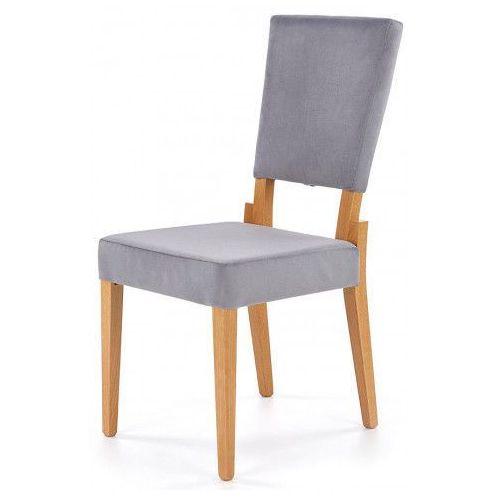 Krzesło Drewniane Elton Popiel Dąb Miodowy Kolor Szary Producent Elior