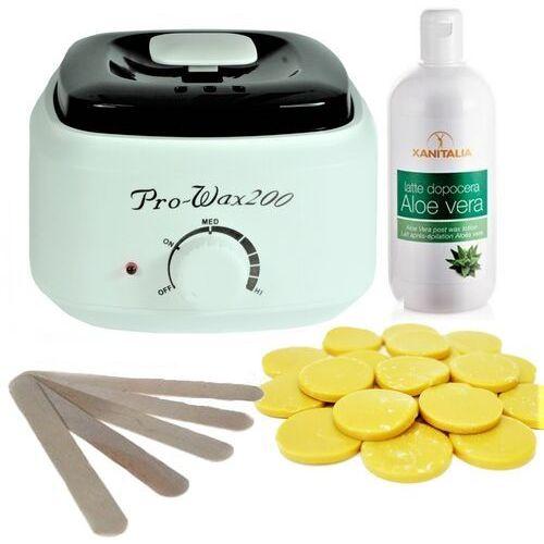 Zestaw do depilacji - sunny beach - podgrzewacz + wosk 1kg + balsam - Znakomita oferta
