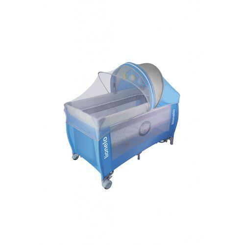 Łóżeczko turystyczne LO-SVEN PLUS blue grey