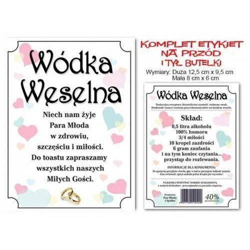 Dp Komplet etykiet na wódkę weselną - 25 kpl. (5907509907623)