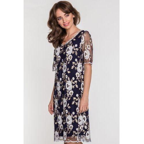 33a1a5d0 Sukienka w kwiaty MORENA, kolor niebieski (POZA)