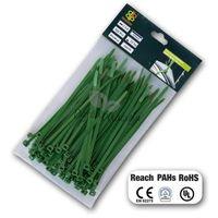 Taśma kablowa rozpinana, opaski zielone 4,8x200mm