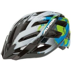Alpina panoma - kask rowerowy, 56-59cm - white-cyan-green (56-59cm)