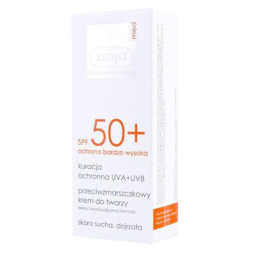 Ziaja spf50+ kuracja ochronna krem do opalania przeciwzmarszczkowy do twarzy opalanie 50ml - Bardzo popularne