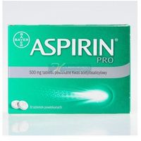Tabletki Aspirin PRO aspiryna 500mg lek na ból głowy migrenę grypa przeziębienie 8tabl