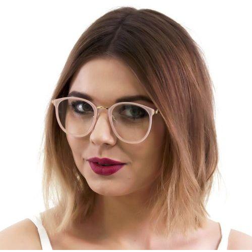 Okulary damskie zerówki jasne różowe - 1 Iloko