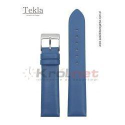 Pasek do zegarka TK126NIE/18 - gładki, niebieski, kolor niebieski