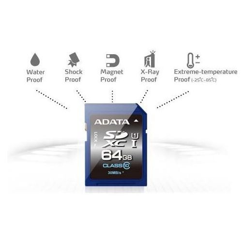 Karta pamięci ADATA SDXC 64GB Class 10 (ASDX64GUICL10-R) Darmowy odbiór w 21 miastach! (4713435793961)