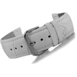 pasek do zegarka - skóra 22 mm - biały