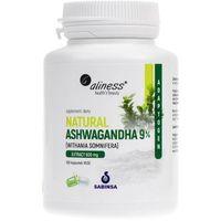 Aliness Natural Ashwagandha 9% 600 mg - 100 kapsułek (5903242580178)