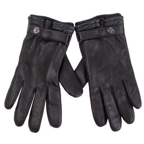 Ugg Rękawiczki męskie - m leather belted glove 17455 black