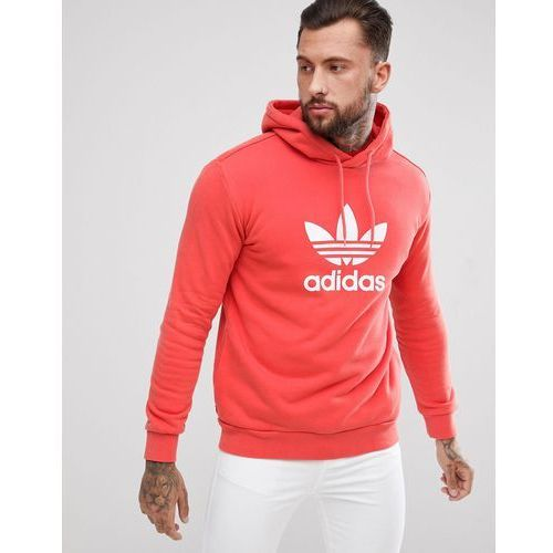 Adidas originals adicolor hoodie with trefoil logo in red cx1899 - red