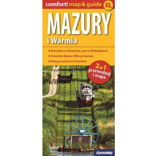 Warmia i Mazury 2w1 przewodnik i mapa