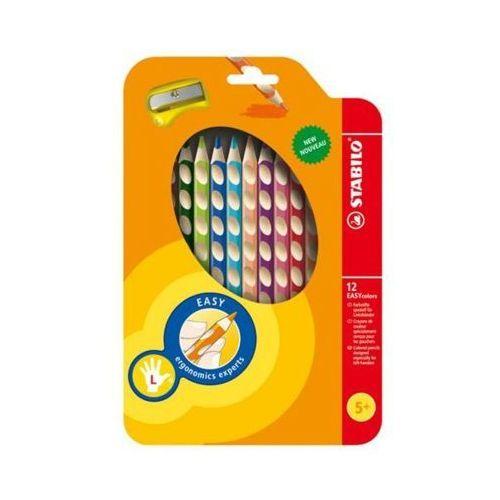 Kredki 12 kolorów dla leworęcznych marki Stabilo
