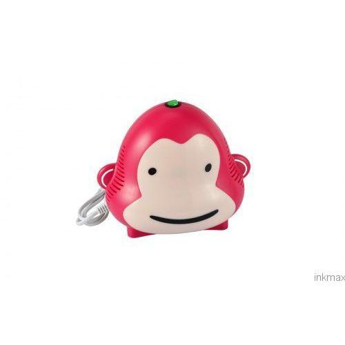 Inhalator monkey milo cn001 kolor malinowy - cichy i wydajny Omnibus