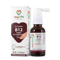 MyVita Witamina B12 w KROPLACH 100mcg 30ml - Metylokobalamina (5903021590855)
