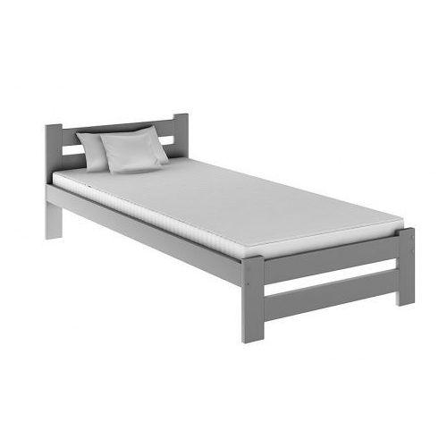 Jednoosobowe łóżko Marsel 90x200 Szare Producent Elior