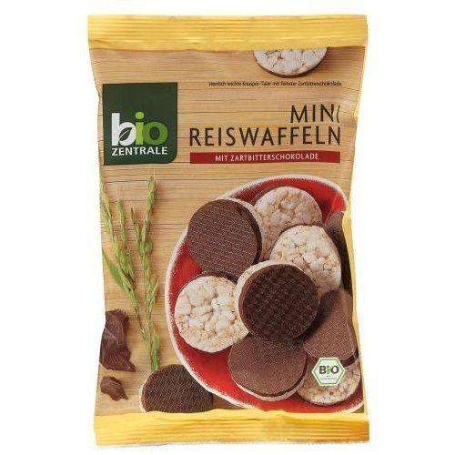 111bio zentrale Mini wafle ryżowe w gorzkiej czekoladzie 60g - bio zentrale eko