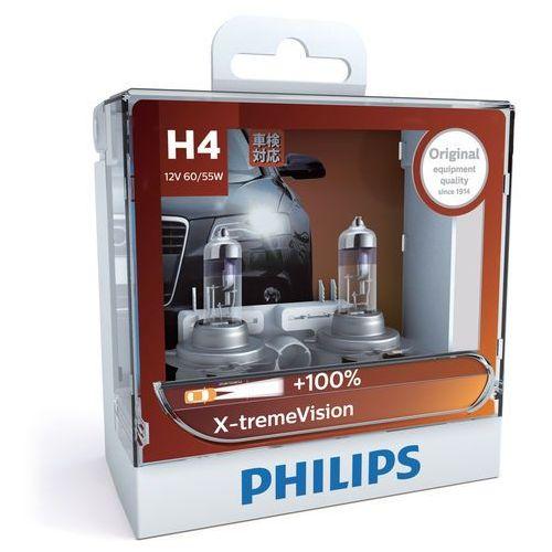 Philips Zestaw 2x żarówka samochodowa x-tremevision 12342xv+s2 h4 p43t-38/60w/55w/12v