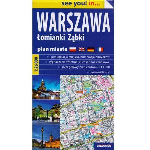 Warszawa Łomianki Ząbki plan miasta 1:26 000, Expressmap