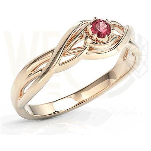 Węc - twój jubiler Pierścionek z różowego złota z rubinem bp-72p-rub