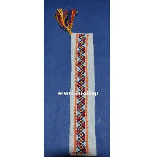 Zakładka haftowana ręcznie (bw-11) marki Twórczyni ludowa
