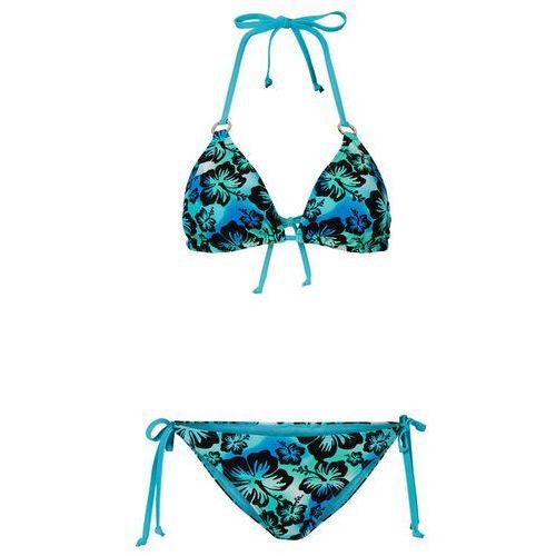 4dca9a6c411582 Bonprix Bikini z trójkątnymi miseczkami (2 części) bonprix niebieski  wzorzysty, w 5 rozmiarach