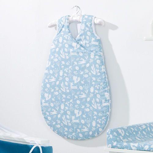 Mamo-tato śpiworek niemowlęcy do spania bubble las jeansowy