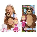 Masza i Niedźwiedź Miś + lalka duży zestaw