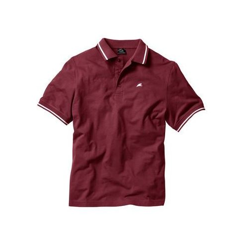Shirt polo bordowy marki Bonprix