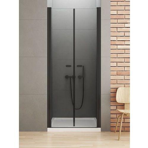 New Trendy New Soleo Black drzwi wnękowe 170 cm wys. 195 cm, szkło czyste 6 mm D-0250A, D-0250A