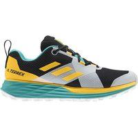 adidas TERREX Two Buty biegowe Mężczyźni, hi res aqua/core black/gold UK 9   EU 43 1/3 2020 Buty trailowe