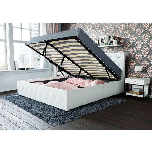 łóżko Tapicerowane Do Sypialni 160x200 Sfg007 Białe Meblemwm