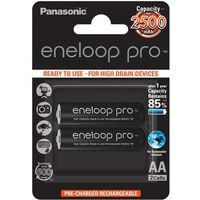 Panasonic 2 x  eneloop pro r6/aa 2550mah bk-3hcde/2be (blister) (5410853057178)