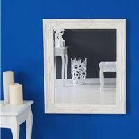 Lustro, drewniana, biała rama, ornamenty. marki Design by impresje24