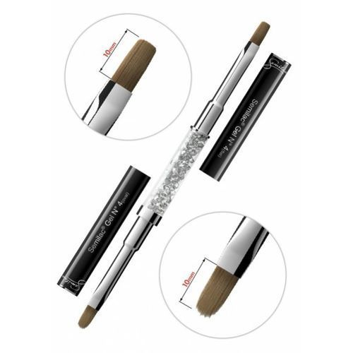 Semilac gel kolinsky brush, pędzelek do żelu, n 4 flat+oval