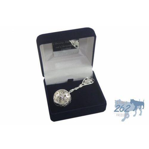 Grzechotka chrzest grawer srebro 925 17g etui marki Victoriaw.