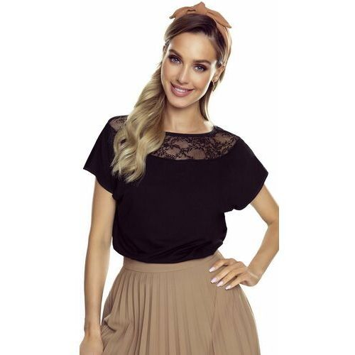 Medea bluzka damska Eldar Romantica Top Czarna, kolor czarny