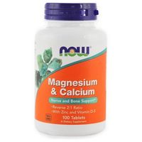 Witaminy NOW FOODS Magnesium & Calcium with Zinc and Vitamin D3 - 100 tablets Najlepszy produkt