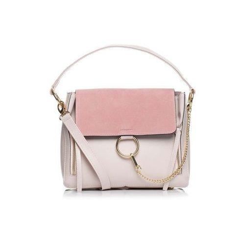 9fe15a9eb620e Zobacz ofertę Pudrowa Elegancka Torba Listonoszka z Metalowym Łańcuszkiem,  kolor różowy