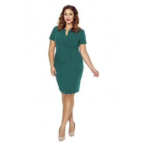 102ccda613 Zielona Elegancka Sukienka z Założeniem Kopertowym