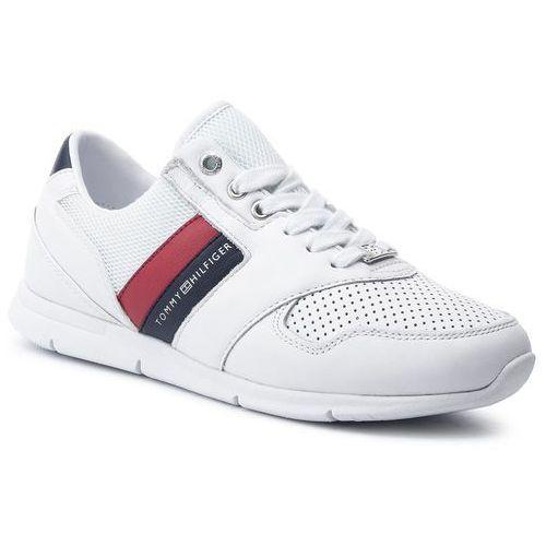 a1c83012db192 Tommy Hilfiger Sneakersy TOMMY HILFIGER - Lightweight Leather Sneaker  FW0FW04261 Rwb 020, w 7 rozmiarach