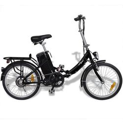 Vidaxl rower elektryczny składany z akumulatorem litowo-jonowym aluminium